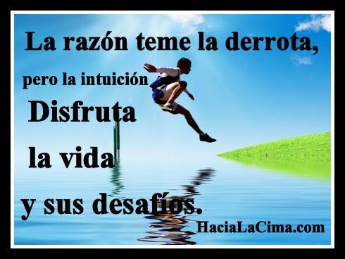Imagen La Razon Teme La Derrota Pero La Intuicion Disfruta La
