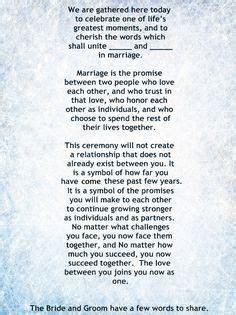 My Non Religious, Short and Sweet Wedding Ceremony Script