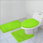 Kashi Home Hailey 3 Piece Bath Rug Set - Lime