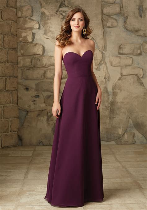 Satin With Illusion Neckline Bridesmaid Dress   Style 101