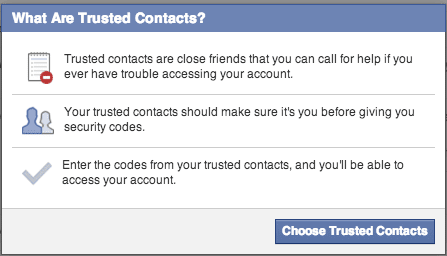 Facebook Trusted Contacts - Off the Wall Social Media