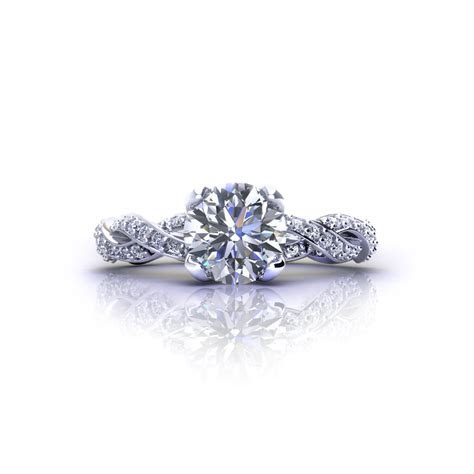 Diamond Infinity Engagement Ring   Jewelry Designs