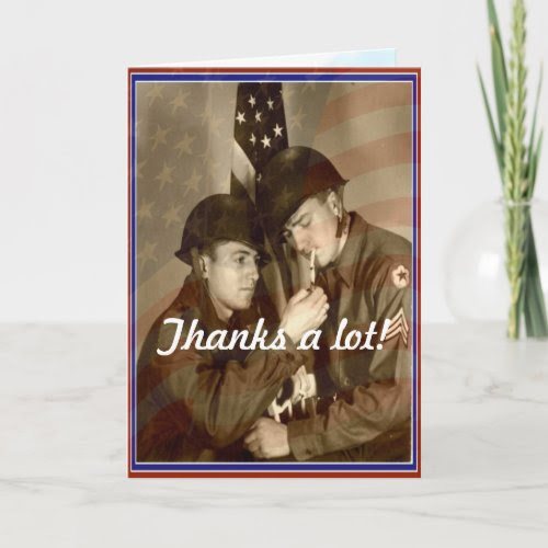 Vintage Veterans Day, Thanks a lot! -Military Card card