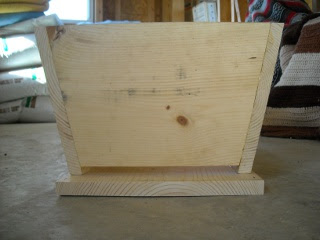 Homemade Top Bar Bee Hive Front Side