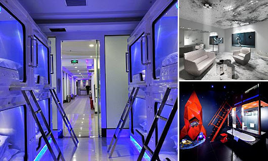 Take a look inside these out-of-this-world space-themed hotels