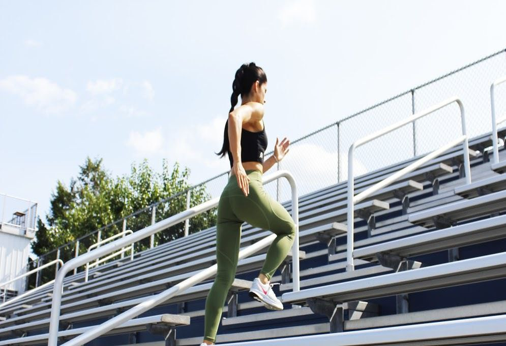 Michele Santiago Climbing Stairs