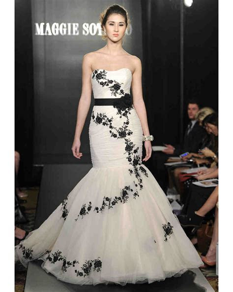 Black and White Wedding Dresses, Spring 2013 Bridal