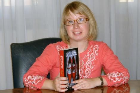 La escritora Kristina Ohlsson, hoy en Madrid. | Espasa