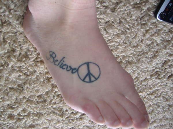 Believe In Peace Tattoo