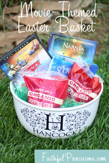 How To Make Easter Baskets Easier Try A Movie Themed Easter Basket