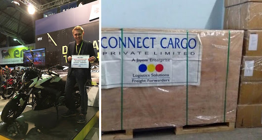 CONNECT CARGO (India) air freights a motorbike to Russia for an exhibition
