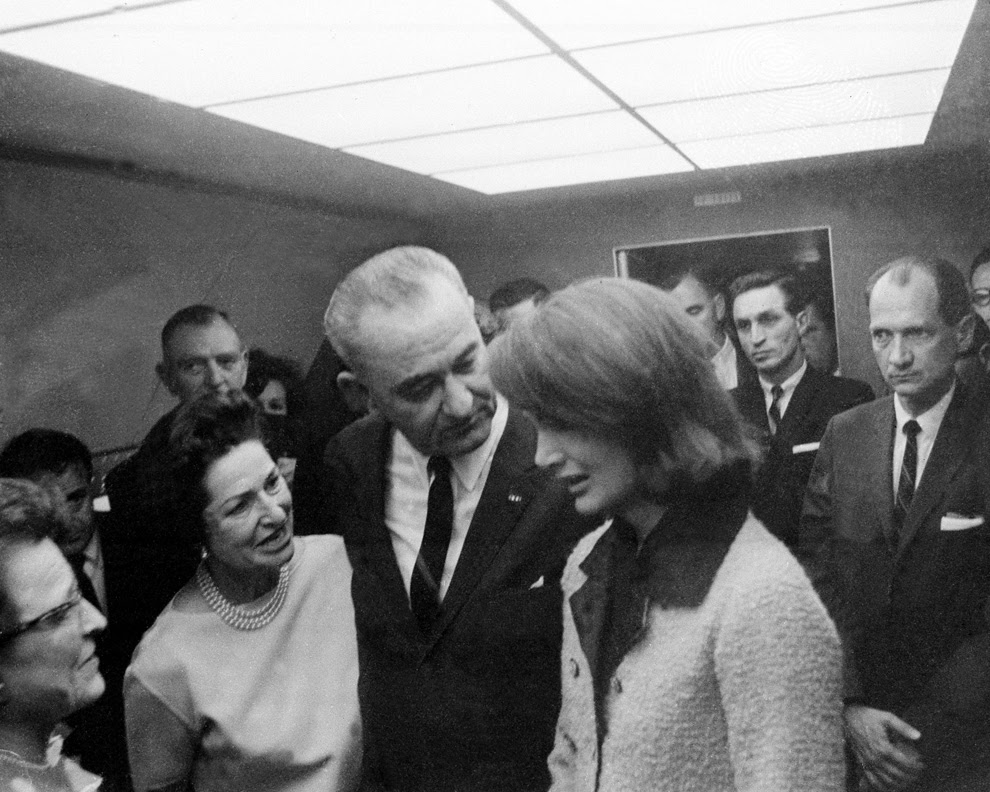 LBJ sworn in aboard Air Force One