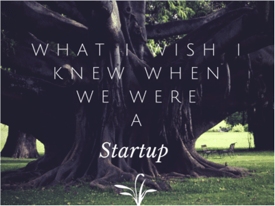 What I Wish I Knew When We Were a Start Up