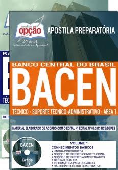 Banco Central do Brasil (BACEN)-TÉCNICO - SUPORTE TÉCNICO-ADMINISTRATIVO - ÁREA 1-TÉCNICO - SEGURANÇA INSTITUCIONAL - ÁREA 2-ANALISTA - CONHECIMENTOS BÁSICOS