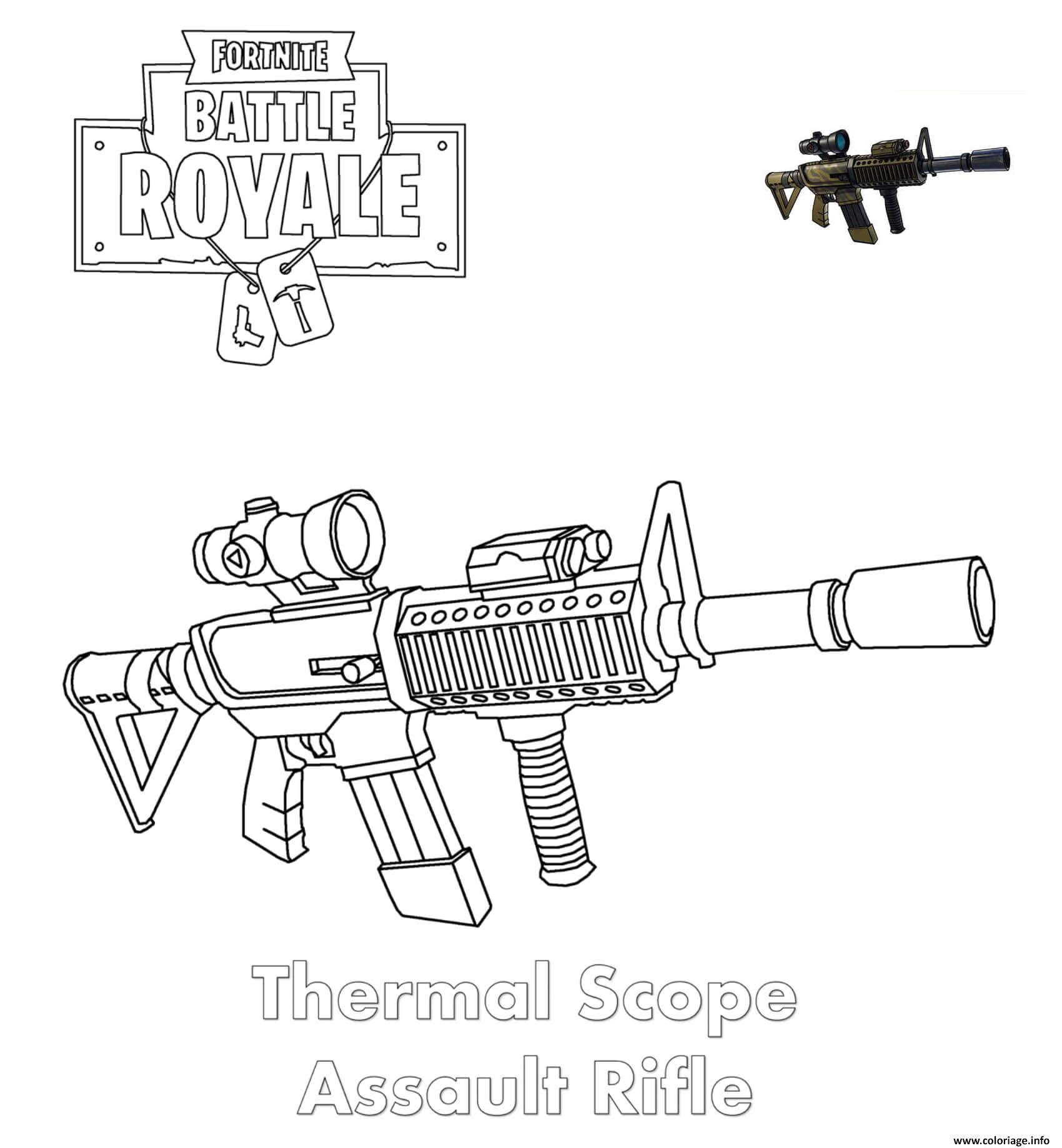 coloriage fortnite arme sniper fortnite for free