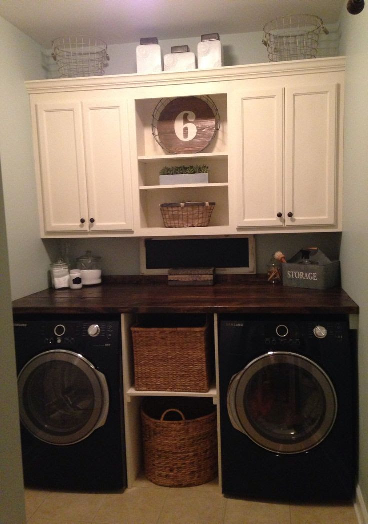 Laundry room makeover....but make the bottom middle whereas would hide the litter box maybe