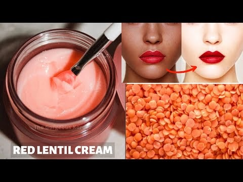 DIY Red Lentil Cream | Skin Whitening & Anti-Aging Cream | Remove Dark