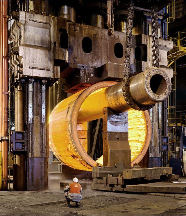 Building a nuclear reactor. France.