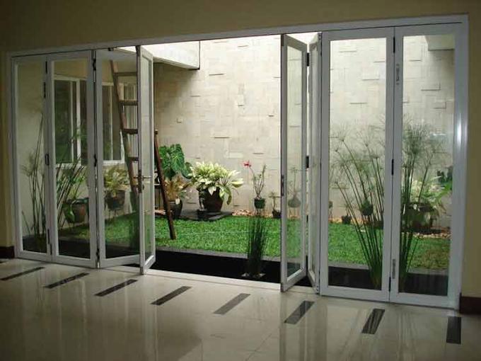 Desain Dapur Dekat Taman   Ide Rumah Minimalis