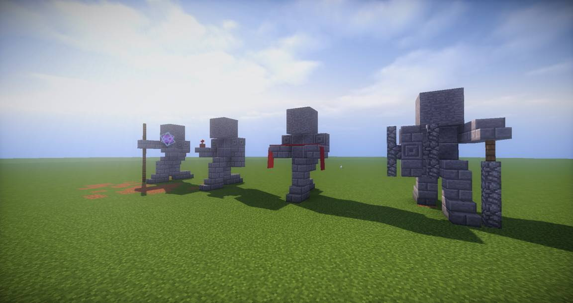 Easy Small Statues - Minecraft Building Inc