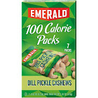 Emerald 100 Calorie Pack Dill Pickle Cashews - 7 count, 4.34 oz box
