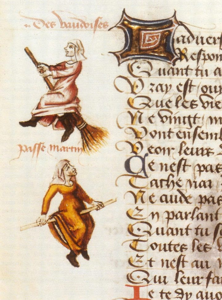 Witches illustrated in Martin Le France's 'Le Champion des Dames' (1451) (via Wikimedia)
