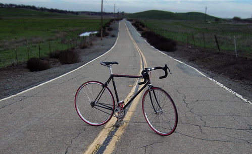 Red tires on my fixed gear