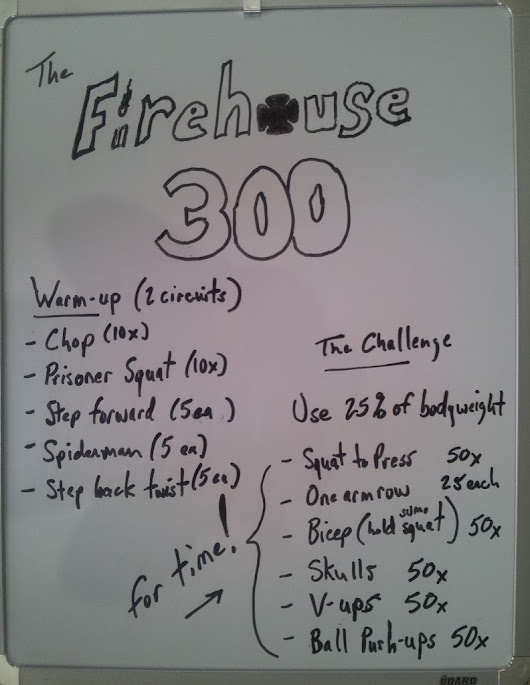 The Firehouse 300 Rep Challenge Workout | Fire Rescue Fitness