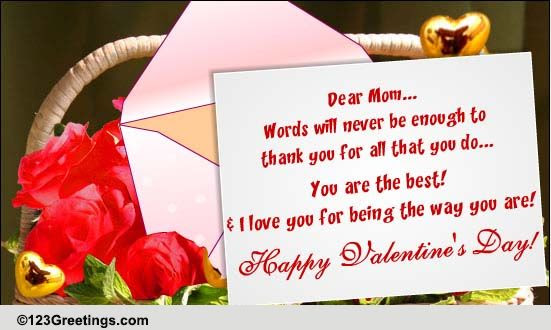 Happy Valentines Day Mom Free Family Ecards Greeting Cards 123