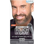 Just For Men Touch of Gray Hair Color, Mustache & Beard, Dark Brown & Black B-45/55
