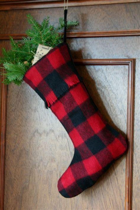 Red and Black Buffalo Check Christmas Stocking