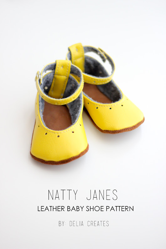Natty Janes Baby Shoes with Sew Haute Blog