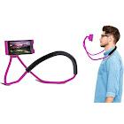Aduro Lounger Universal Adjustable Neck Mount Phone Holder Pink Single