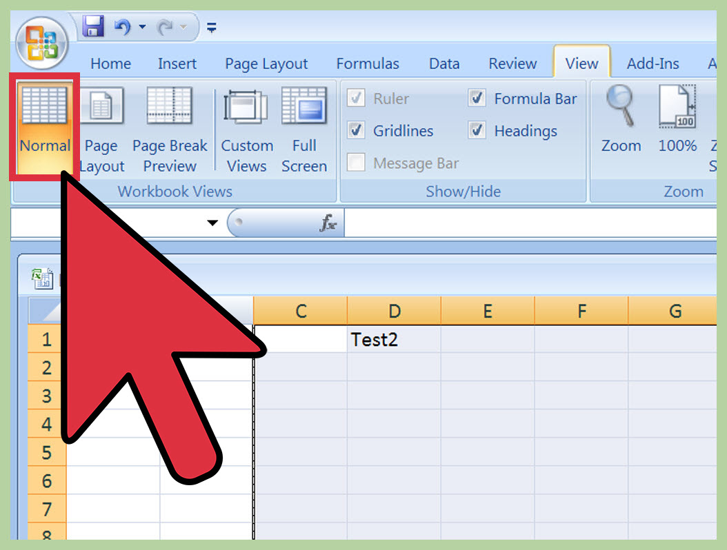 Insert a Page Break in an Excel Worksheet Step 11