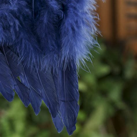 Blue Feathered Angel Wings   Angel Wings   Doll Supplies