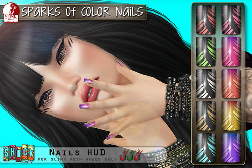 [ S H O C K ] Sparks Of Color Nails - Slink applier (With Love Fair coming soon)