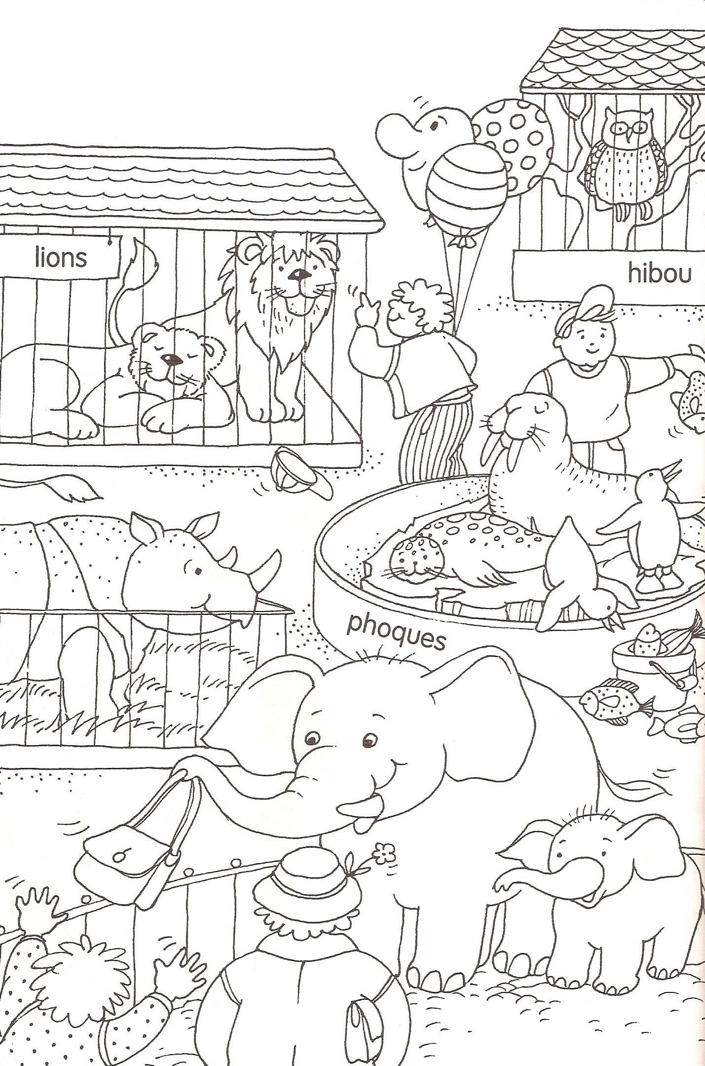 10  Coloriage De Zoo A Imprimer