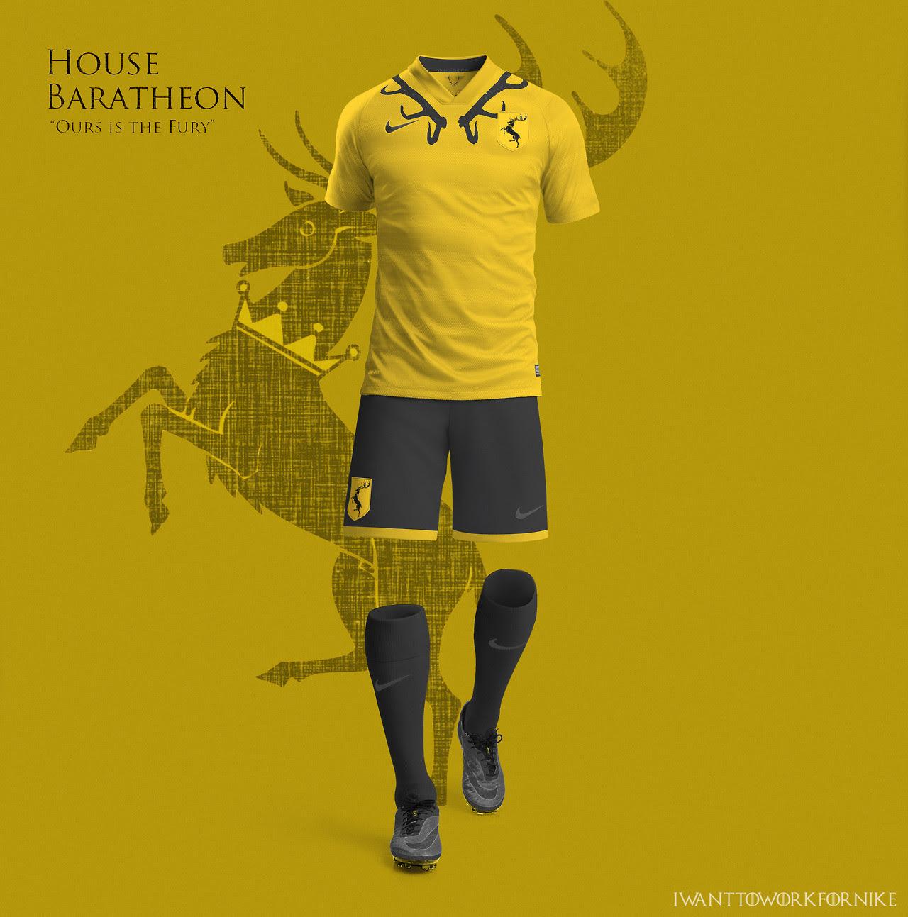 Equipaciones futboleras tipo Juego de Tronos - Baratheon