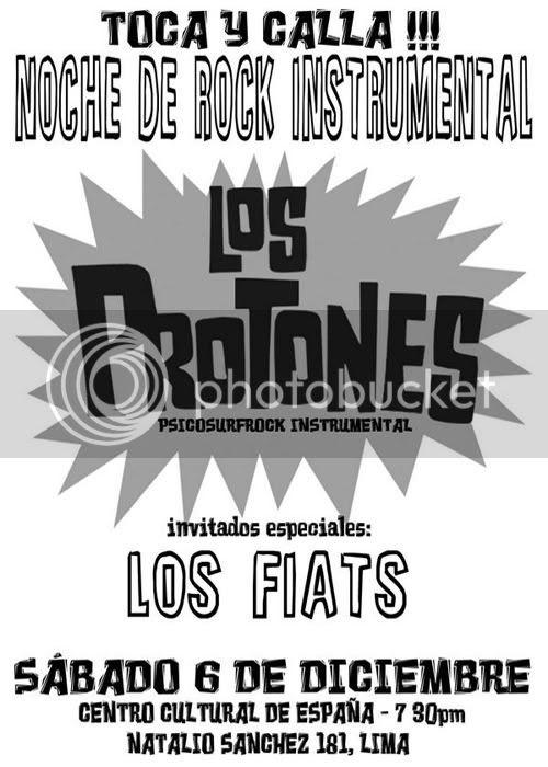 Los Protones en Centro Cultural España, Lima - 06/12/2008