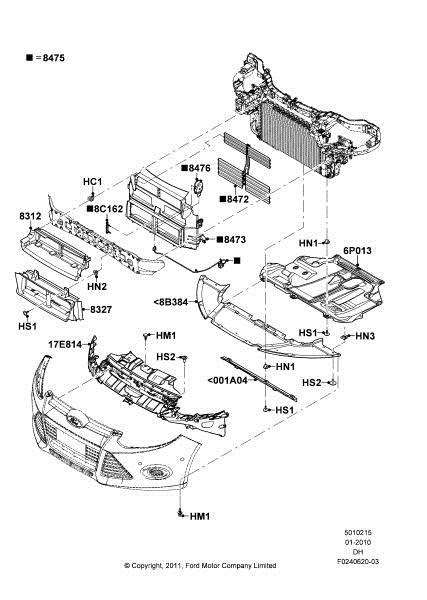 2012 Ford Focus Parts Diagram : focus, parts, diagram, Focus, Bumper, Removal