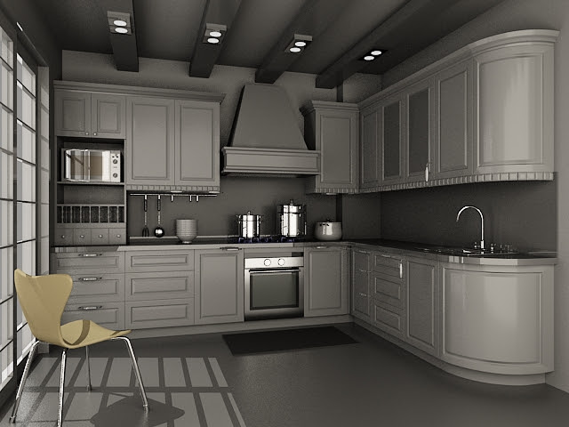 Small kitchen units design 3d model 3dsMax files free ...