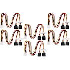 Aleratec LP4 to SATA Female 1 2 Y Splitter Power Cable 16 in 6-Pack