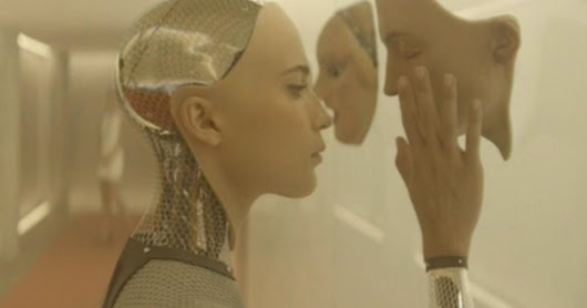 How did sexy humanoid robot Ava come to life in Ex Machina