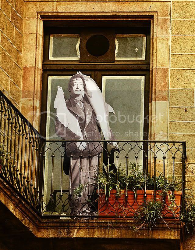 Dali Standing on Barcelona Balcony [enlarge]