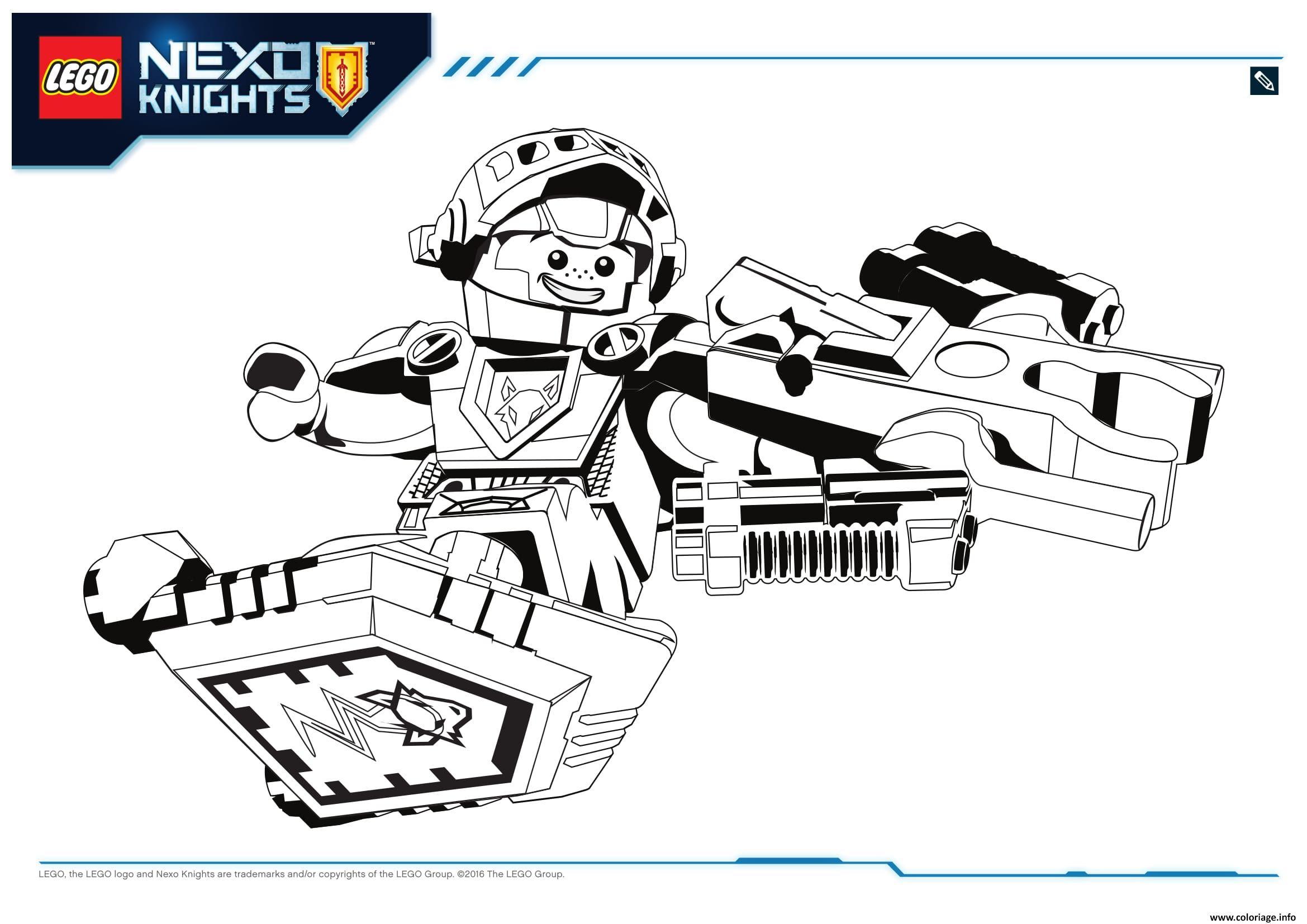 Coloriage Lego Nexo Knights Aaron 1