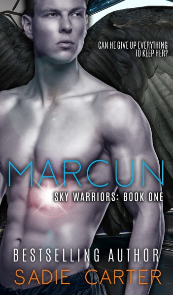 Book Cover for  Marcun, from the Sky Warriors series, by Sadie Carter
