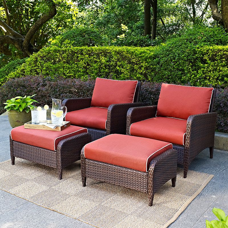 Crosley Outdoor Kiawah 4-pc. Outdoor Wicker Seating Set