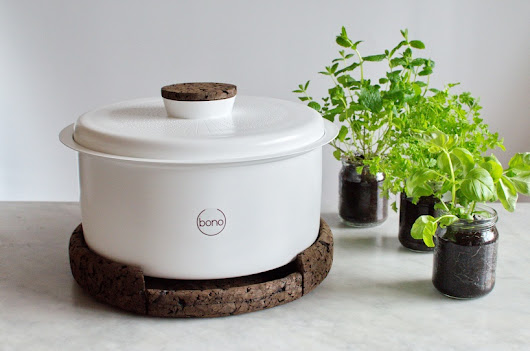 Bono: A stylish aluminum composter perfectly sized for your countertop