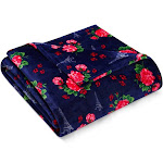 Betsey Johnson French Floral Blanket Twin Navy