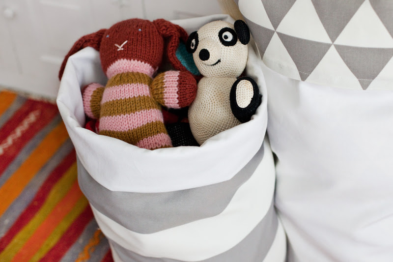 Easy DIY Fabric Storage Bins
